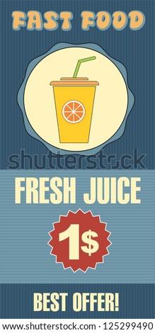 Fresh juice - stock vector