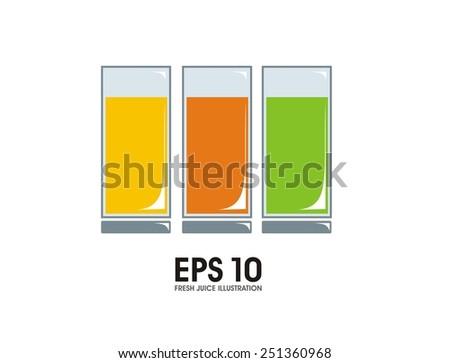 fresh juice simple illustration - stock vector