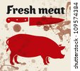 Fresh meat - stock vector