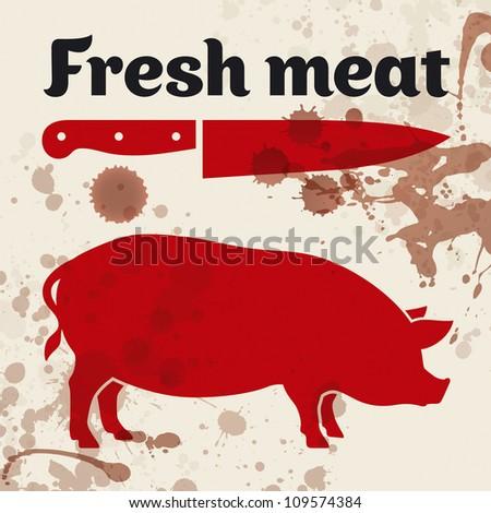Fresh meat - stock vector
