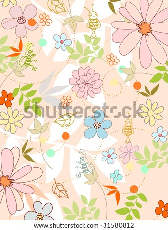 fresh natural background - stock vector