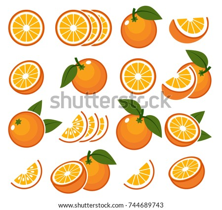 Orange Fruit Vector Juicy Stock Images, Ro...
