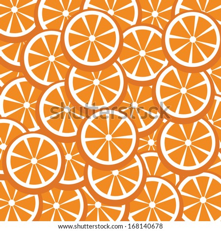fresh oranges vector for background  - stock vector
