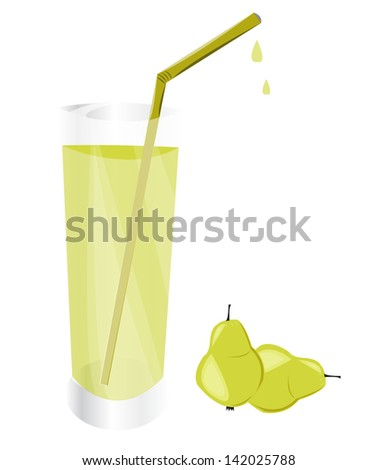 Fresh pear juice
