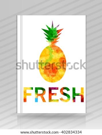 Fresh pineapple logo vector template - stock vector