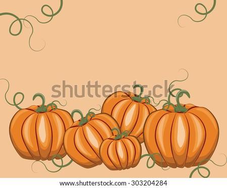Fresh Pumpkins. Vector - stock vector