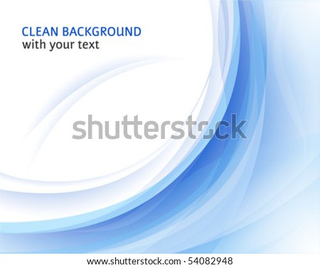 Fresh vector horizontal abstract background with curve shapes - stock vector