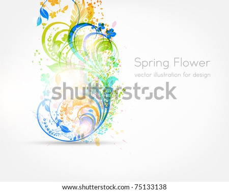 Fresh vector illustration of floral ornament for summer design with flowers. eps 10