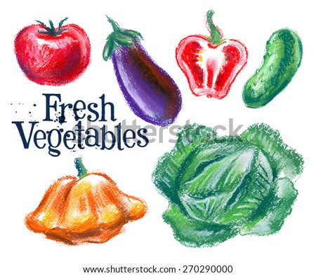 fresh vegetables vector logo design template.  food or harvest icon. - stock vector