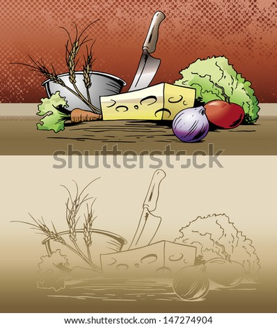 fresh veggies - stock vector