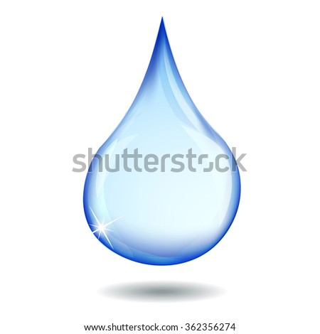 Fresh Water Clear Drop - Vector Illustration