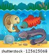 Freshwater fish theme image 5 - vector illustration. - stock vector