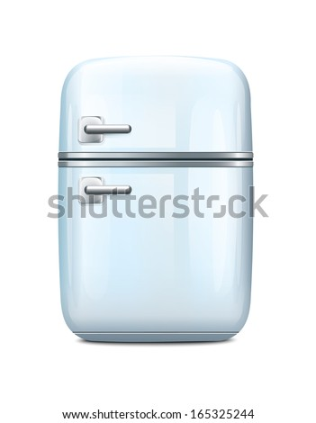Fridge - stock vector