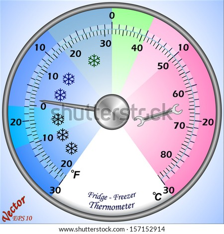 Fridge - Freezer Thermometer - stock vector