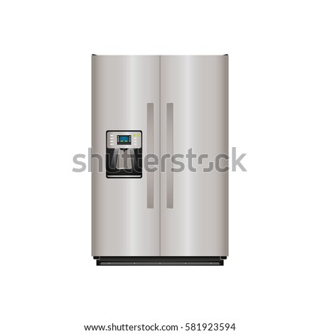 Fridge home appliance icon vector illustration graphic design
