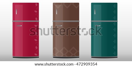 fridge vector designs with cool colors art work design