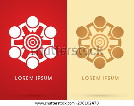 Friend, unity, team work, meeting, icon graphic vector. - stock vector
