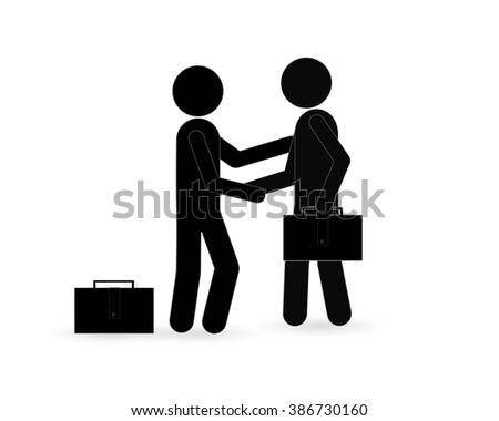 Friendly handshake. Welcome. Background for business and finance.Vector. - stock vector