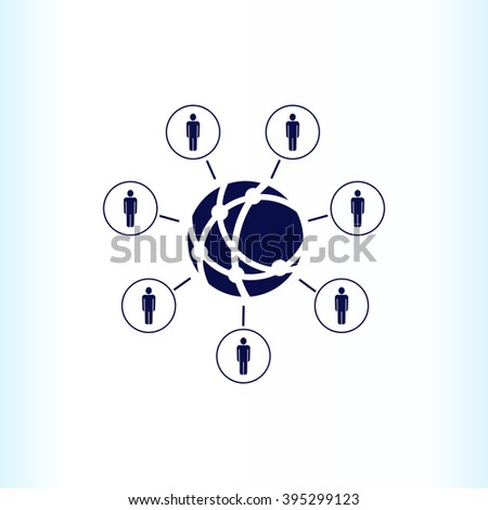 Friends icon, Group of people icon,  vector illustration. Flat design style