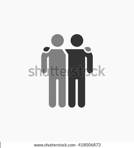 Friends Icon Vector Illustration Isolated On Stockvector 418006873