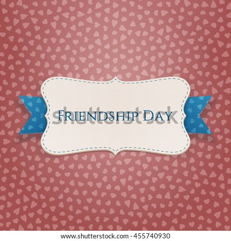 Friendship Day textile Badge with Ribbon