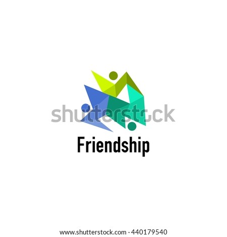Friendship, Teamwork, Connectivity logo template