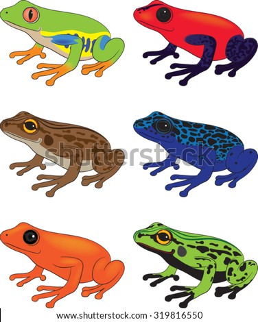 frog clipart vector illustration stock vector 2018 319816550 rh shutterstock com frog pictures clip art frog images clip art black and white