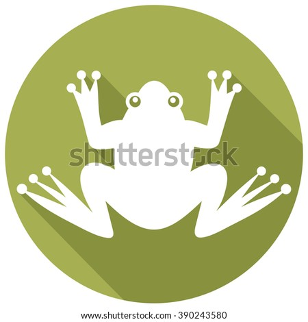 frog flat icon  - stock vector