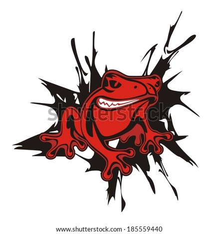 frog red angry