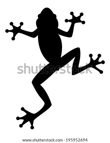 Frog Silhouette - stock vector