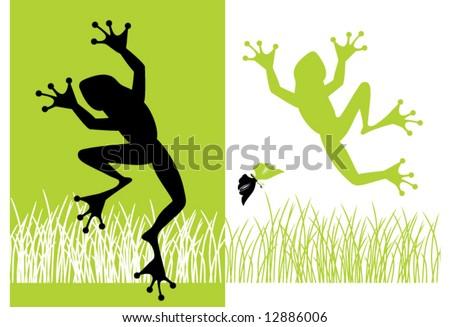 frogs - stock vector