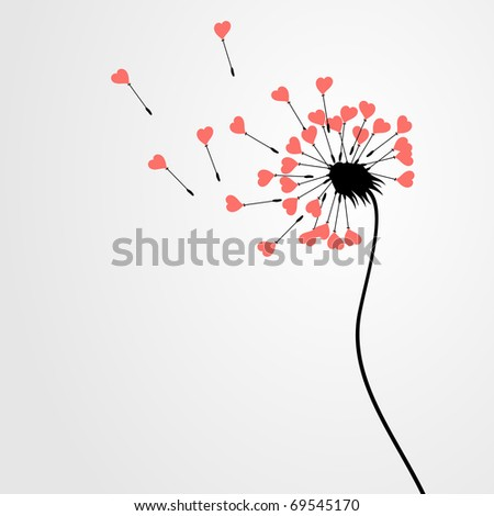 From a dandelion seeds depart. A vector illustration - stock vector