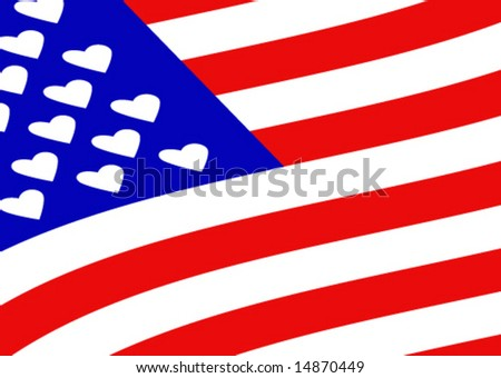 From America with love - vector-2 - stock vector