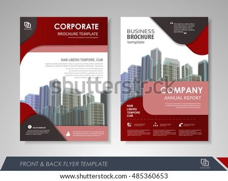 Front and back page annual report brochure flyer design vector template. Leaflet cover presentation abstract background for business, magazines, posters, booklets, banners. Layout in A4 size.