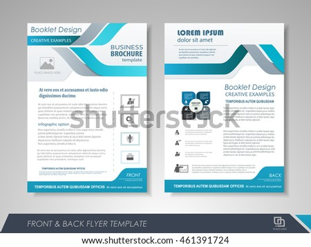 Blue annual report brochure flyer design stock vector for Brochure front cover design