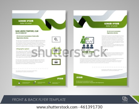 Brochure template business flyer annual report stock for Brochure front cover design