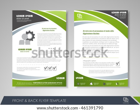 Exceptional Front And Back Page Brochure Template. Flyer Design, Leaflet Cover For  Business Presentations,  Flyer Samples Templates
