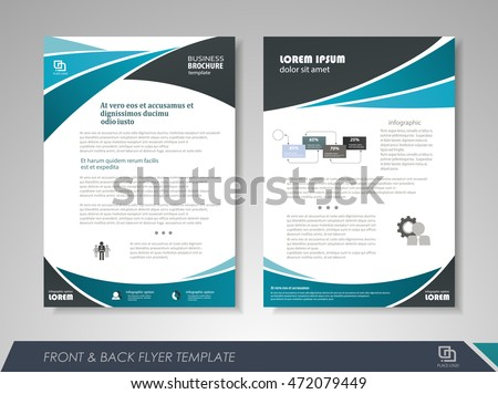 Front back page brochure template flyer stock vector for Brochure front cover design