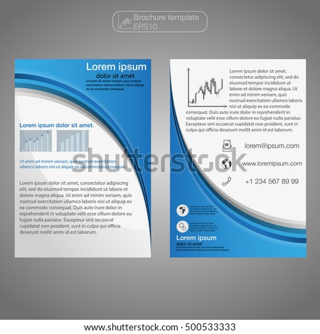 Front Back Page Brochure Template Layout Stock Vector 500533333