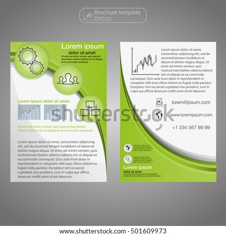 Front Back Page Brochure Template Layout Stock Vector 501609973