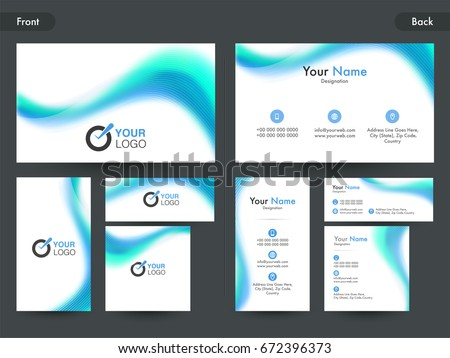 Front back side view professional business stock vector 672396373 front and back side view of professional business card visiting card or name card set reheart Choice Image