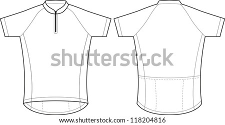 front back vector cycling jersey template stock vector 118204816