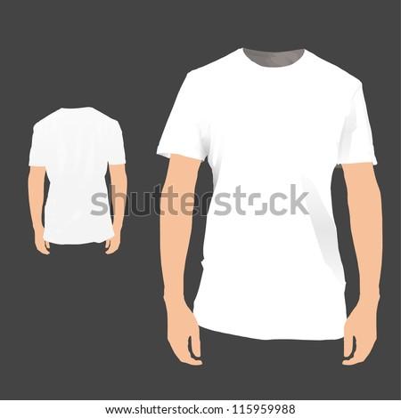 Front / back white shirt design. Vector illustration. - stock vector