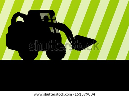 Front loader vector abstract background concept - stock vector
