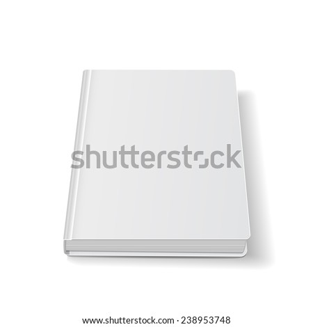 front view of perspective Blank book cover white. vector illustrations - stock vector