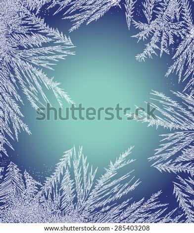 Frosty Pattern Frame. - stock vector