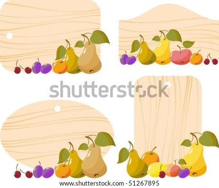 fruit and berry - stock vector