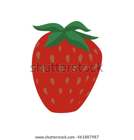 Fruit and organic food concept represented by strawberry icon. Isolated and flat illustration
