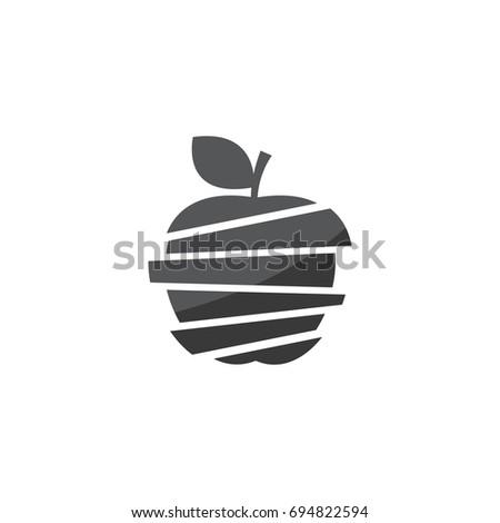 apple logo white vector. fruit apple logo black colora white vector g