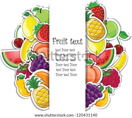 Fruit background, vector illustration for your design - stock vector